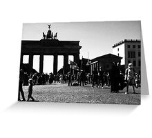 Berlin meets Darth Vader...and a trooper... Greeting Card