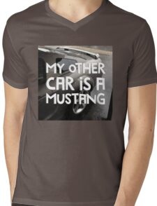 MY OTHER CAR IS A MUSTANG style III Mens V-Neck T-Shirt