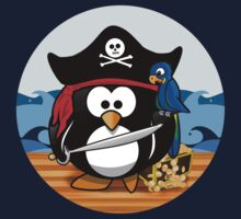 Pirate Penguin with Treasure Chest One Piece - Long Sleeve