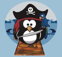 Pirate Penguin at Sea Kids Tee