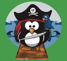 Pirate Penguin at Sea One Piece - Short Sleeve