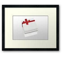 one white gift box  Framed Print