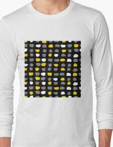 Textured Brush Stroke Long Sleeve T-Shirt