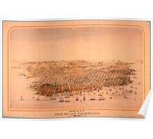 Birds Eye View of San Francisco 1868 Poster