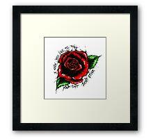 Smells Like Roses Framed Print