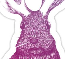 Ombre Jackalope Sticker
