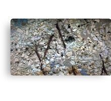 deteriorated concrete with blue and rust Canvas Print