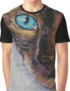 Siamese Cat Painting Graphic T-Shirt