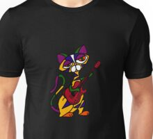 Cool Psychedelic Cat Playing Electric Guitar Unisex T-Shirt