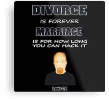 Louis C.K- Marriage Metal Print