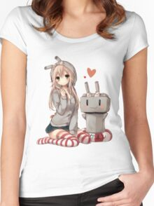 Shimakaze Sit No.2  Women's Fitted Scoop T-Shirt