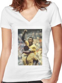 Pele Women's Fitted V-Neck T-Shirt