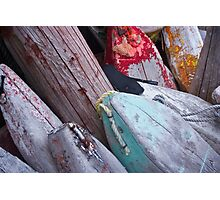 Buoys, Acadian Fishing Village Photographic Print
