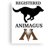 Registered Animagus (Dog) Canvas Print