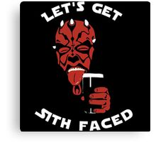 Let's Get Sith Faced Canvas Print