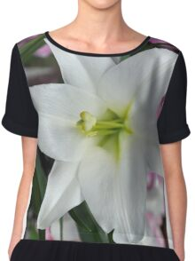 White easter lily Chiffon Top