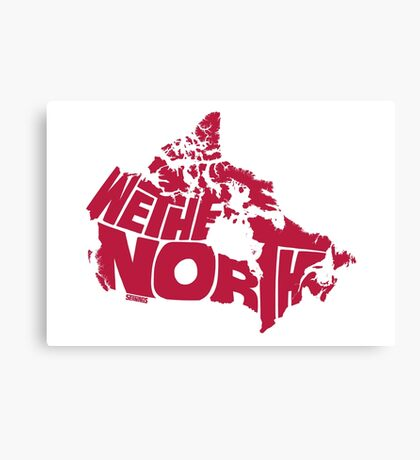 We The North (Red) Canvas Print