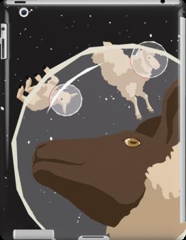 Lost Sheep iPad Case by matterdeep
