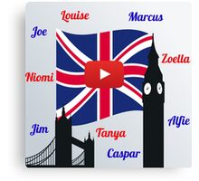British Youtubers Canvas Print
