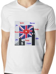 British Youtubers Mens V-Neck T-Shirt
