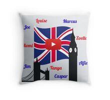 British Youtubers Throw Pillow