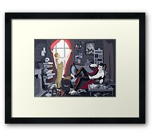 Holmes' Natural Habitat OR Some Light on a Black Mood Framed Print