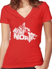 We The North (White) Women's Fitted V-Neck T-Shirt