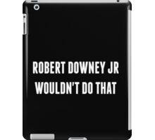 RDJ... iPad Case/Skin