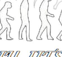 Jiu jitsu evolution Sticker
