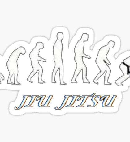 Jiu jitsu evolution Sticker