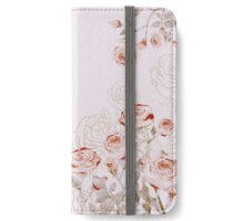 FRENCH PALE ROSES iPhone Wallet/Case/Skin