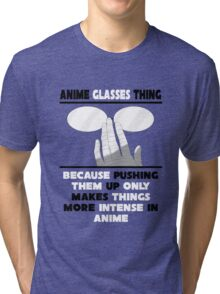 The Anime Glasses Thing Tri-blend T-Shirt