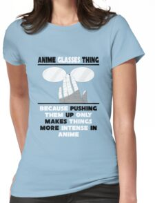 The Anime Glasses Thing Womens Fitted T-Shirt