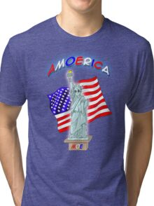 Amoerica the Land of the Free Tri-blend T-Shirt
