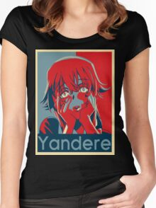 Yandere Women's Fitted Scoop T-Shirt