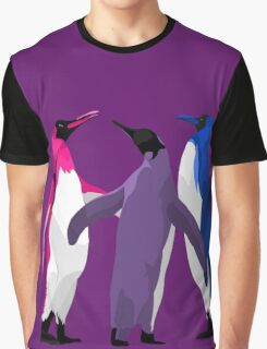 Bisexual Pride Penguins Graphic T-Shirt