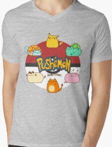 Pushemon Mens V-Neck T-Shirt