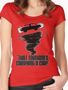 That Tornado's Carrying A Car Women's Fitted Scoop T-Shirt