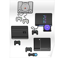 Pixel art consoles Poster
