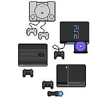 Pixel art consoles Photographic Print