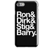 The Prefab Four - Ron & Dirk & Stig & Barry - It's the Rutles! Helvetica iPhone Case/Skin