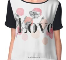 flowers love Chiffon Top