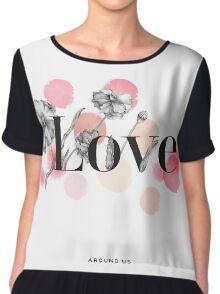 flowers love Chiffon Top