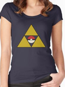 Triforce with Pokeball Women's Fitted Scoop T-Shirt