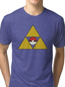 Triforce with Pokeball Tri-blend T-Shirt