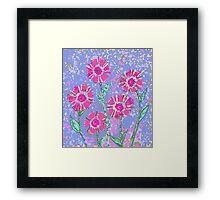 Flat Petal Flower Framed Print