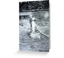Sibling Fishing Greeting Card