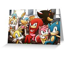Sonic Gang Greeting Card