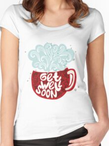 Blossom heart Women's Fitted Scoop T-Shirt