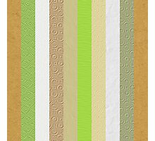 Vintage embossed paper stripes collage Photographic Print